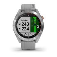 Часы для гольфа Garmin Approach S40 Stainless Steel with Powder Gray Band