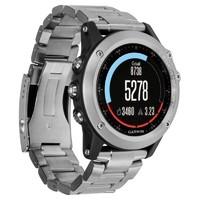 Часы Garmin fenix 3 HR серебряные с титановым браслетом