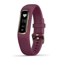 Фитнес-браслет Garmin Vivosmart 4 Berry with Light Gold Hardware