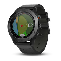 Garmin Approach S60 Premium (Black Ceramic Bezel with Black Leather Band)