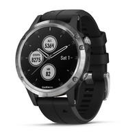 Часы Garmin Fenix 5 Plus Silver with Black Band