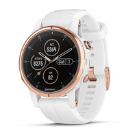 Часы Garmin Fenix 5S Plus Sapphire, Rose Gold-tone with Carrara White Band