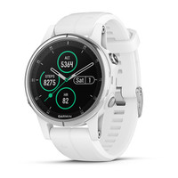 Часы Garmin Fenix 5S Plus Sapphire, White with Carrera White Band