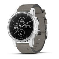 Часы Garmin Fenix 5S Plus Sapphire, White with Gray Suede Band