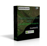 Garmin карта Карпат топографическая