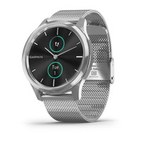 Garmin Vivomove Luxe Silver Stainless Steel Case with Silver Milanese Band