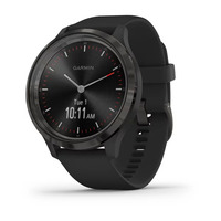 Garmin Vivomove 3 Slate Stainless Steel Bezel with Black Case and Silicone Band