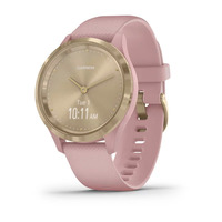Garmin Vivomove 3s Light Gold Stainless Steel Bezel with Dust Rose Case and Silicone Band
