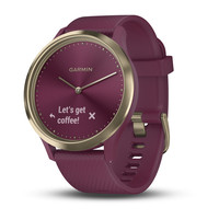 Garmin Vivomove HR Berry with Light Gold Hardware