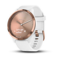 Garmin Vivomove HR Rose Gold with White Silicone Band