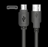 Кабель Sigma mobile Micro-USB с зауженным корпусом, 1А длина 0.85 м