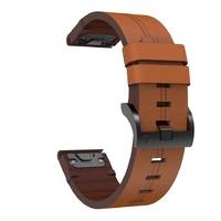 Кожаный ремешок для часов Garmin Fenix 3/5x/6x 26 Watch Bands Brown Leather