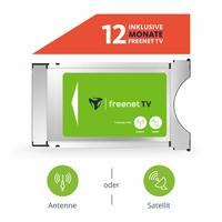 Модуль freenet TV CI+ Modul inkl. 12 Monate freenet für Antenne (DVB-T2 HD) & Satellit (DVB-S)