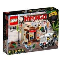 Пластиковый конструктор LEGO Ninjago Movie Ограбление киоска в НиндзяГо Сити (70607)