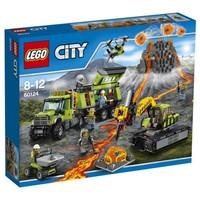 Пластмассовый конструктор LEGO City База исследователей вулканов (60124)