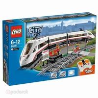 Пластмассовый конструктор LEGO City Скоростной пассажирский поезд (60051)