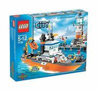 Пластмассовый конструктор LEGO Coastguard Patrol Boat and Tower Патрульный катер береговой охраны и сигнальная башня (7739)