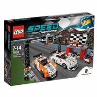 Пластмассовый конструктор LEGO Speed Champions Финишная линия гонки Porsche 911 GT (75912)