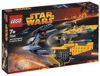 Пластмассовый конструктор LEGO star wars Jedi Starfighter and Vulture Droid (7256)