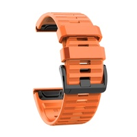Ремешок 26мм для часов Garmin Fenix 5x/6x, Quatix 6x Bands Orange Silicone