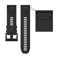 Ремешок на запястье для Garmin Garmin Fenix 5/6, Quatix 5 и Forerunner 935/945, MARQ Bands Black Silicone
