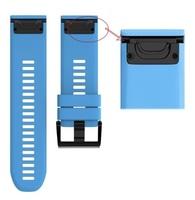 Ремешок на запястье для Garmin Fenix 5x/6x Watch Bands Blue Silicone