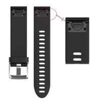 Ремешок на запястье для Garmin Fenix 5s Watch Bands Black Silicone