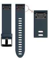 Ремешок на запястье для Garmin Fenix 5s/6s Watch Bands Granite Blue Silicone