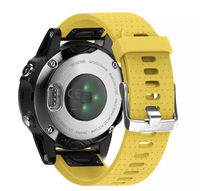 Ремешок на запястье для Garmin Fenix 5s Watch Bands Yellow Silicone