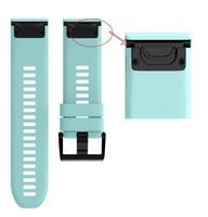 Ремешок на запястье для Garmin Fenix 5x/6x Watch Bands Frost Blue Silicone