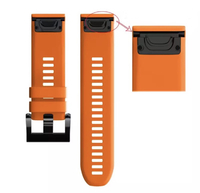 Ремешок на запястье для Garmin Fenix 5x Watch Bands Orange Silicone