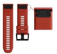 Ремешок на запястье для Garmin Fenix 5x/6x Watch Bands Red Silicone