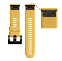 Ремешок на запястье для Garmin Garmin Fenix 5/6, MARQ, Quatix 5 и Forerunner 935/945 Bands Yellow Silicone
