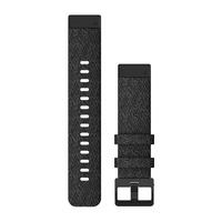 Ремешок на запястье для Garmin QuickFit™ 20 Watch Bands Heathered Black Nylon with Black Hardware