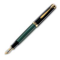 Ручка перьевая Pelikan Souveran M600, Black-Green (977520)