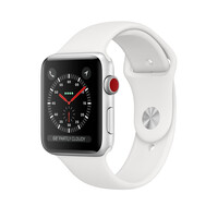Смарт-часы Apple Watch Series 3 GPS + Cellular 38mm Silver Aluminum Case with White Sport Band (MTGG2)