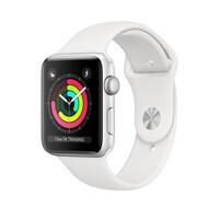 Смарт-часы Apple Watch Series 3 GPS 38mm Silver Aluminum w. White Sport band (MTEY2)