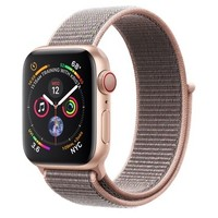 Смарт-часы Apple Watch Series 4 GPS + LTE 40mm Gold Alum. w. Pink Sand Sport l. Gold Alum. (MTUK2)