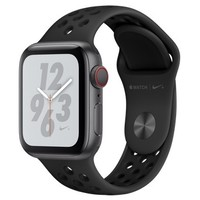 Смарт-часы Apple Watch Series 4 Nike+ GPS + Cellular 40mm Gray c. w. Black Nike Sport b. (MTXG2)