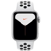 Смарт-часы Apple Watch Series 5 GPS + LTE 40mm Silver Aluminium w. Pure Platinum/Black Nike Sport Band (MX372)