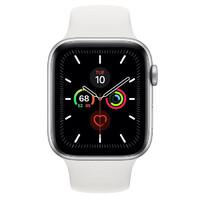 Смарт-часы Apple Watch Series 5 GPS 44mm Silver Aluminum w. White b.- Silver Aluminum (MWVD2)