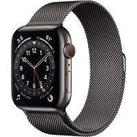 Смарт-часы Apple Watch Series 6 GPS + Cellular 44mm Graphite Stainless Steel Case w. Graphite Milanese L. (M07R3)