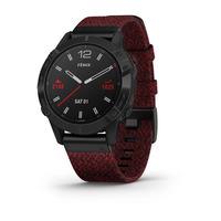 Спортивные часы Garmin Fenix 6 Pro Sapphire - Black DLC with Heathered Red Nylon Band