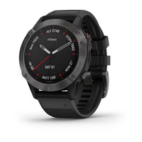 Спортивные часы Garmin Fenix 6 Pro Sapphire - Carbon Gray DLC with Black Band