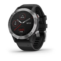 Спортивные часы Garmin Fenix 6 Silver with Black Band