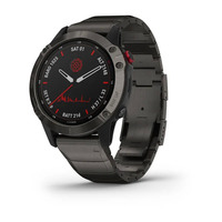 Спортивные часы Garmin Fenix 6 Pro Solar Edition Titanium Carbon Gray DLC with Titanium DLC Band