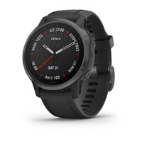 Спортивные часы Garmin Fenix 6S - Pro and Sapphire Editions - Carbon Gray DLC with Black Band