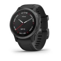 Спортивные часы Garmin Fenix 6S - Pro and Sapphire Editions - Carbon Gray DLC with Black Band