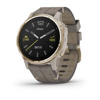 Спортивные часы Garmin Fenix 6S - Pro and Sapphire Editions - Light Gold-tone with Shale Gray Leather Band