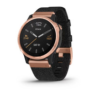 Спортивные часы Garmin Fenix 6S - Pro and Sapphire Editions - Rose Gold-tone with Heathered Black Nylon Band, North